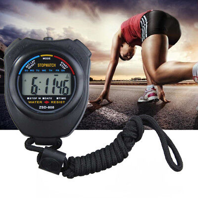 Digital Handheld Sports Stopwatch Stop Watch Time Clock Alarm Counter Timer New