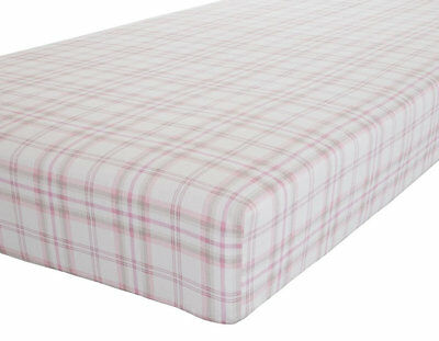 Canterbury, Check King Size Fitted Sheet - 100% Brushed Cotton