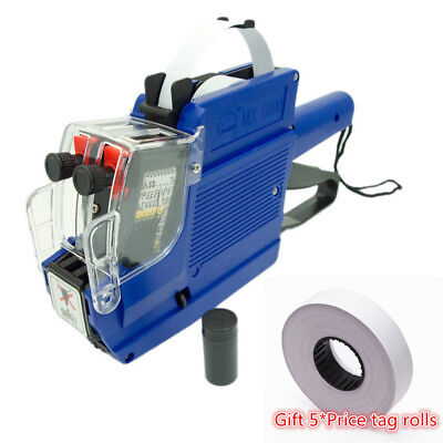 MX-6600 10 Digits 2 Lines Price Tag Gun labeler +1 Ink + 5 Rolls 2500pcs Tags