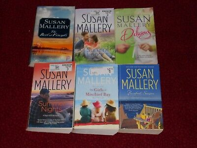 SUSAN MALLERY Lot of 6 PB Bks: Summer Nights,All Summer Long,Delicious,Barefoot