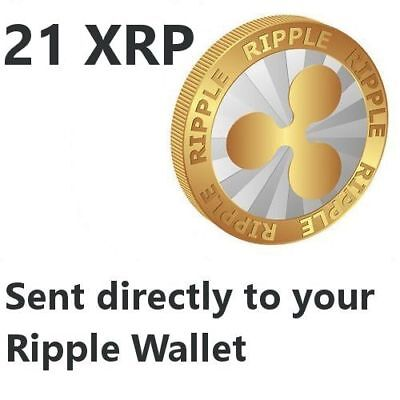 21 Ripple (XRP) Coin Crypto Currency to your Ripple XRP Wallet ---- USA SELLER