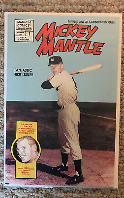 Mickey Mantle Magnum Comics #1 + Diamond Kings Mickey Mantle Puzzle Cards