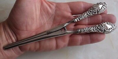 Antique Silver Handled Glove Stretchers By W J Myatt & Co, Birmingham 1914.
