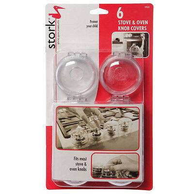 Stork Child Care,stove,gas,oven,knob Covers X6 Pack, St9033, Warehouse Clearance