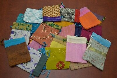 """24 PCS HANDMADE DRAWSTRING JEWELRY GIFT POUCHES BAGS 3"""" x 4"""" #8008"""