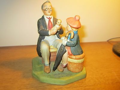 """1980 Norman Rockwell """"Doctor & The Doll"""" Porcelain Figurine - Japan -  8"""""""
