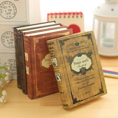 Vintage Classic Retro Cardboard Journal Travel Notepad Notebook Blank Diary New