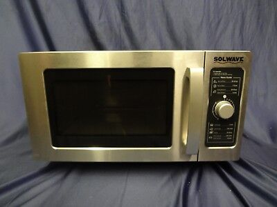 Solwave Stainless Steel Commercial Dial Control Microwave 180MW1000D