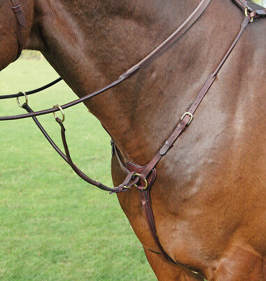 Shires Adelfia Rolled Leather Breastplate
