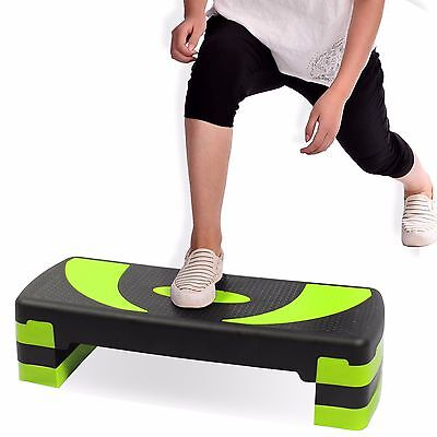 Exercise Aerobic Stepper Training Yoga/Workout/Gym/Step Up Board Level 3 Step