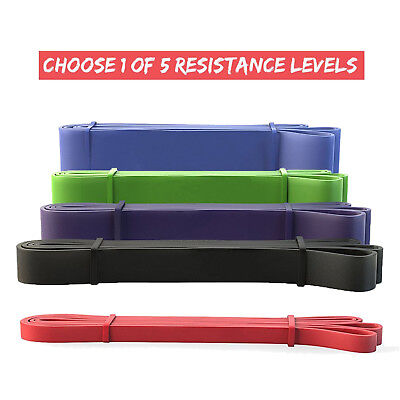 Muscle Trainer Ultra Heavy Resistance Bands Set Yoga Fitness F Gym Exercise Lot