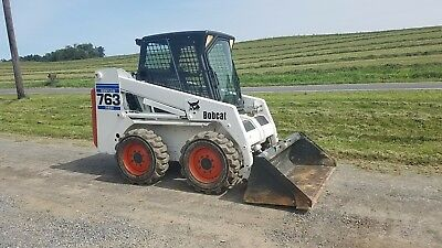 2001 Bobcat 763 Skid Steer Loader Hydraulic Construction Cabbed Wheeled Machine