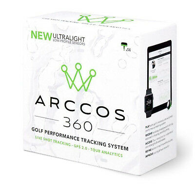 Arccos 360 Live Golf Shot Tracking Gps System 2.0 New Swing Sensor Performance