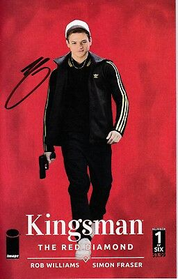 Kingsman : The Red Diamond Issue 1 - Photo Variant Signed By Writer Rob Williams