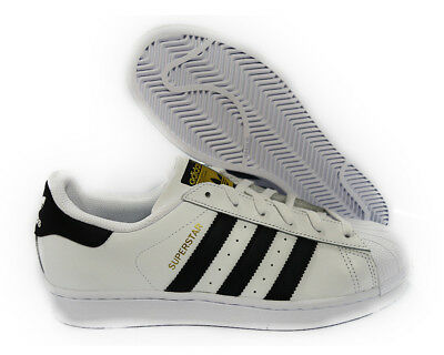 [C77154] ADIDAS SUPERSTAR ORIGINALS WHITE BLACK GRADE SCHOOL BIG KIDS Sz 5