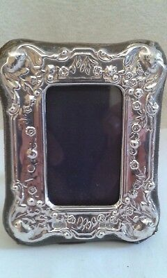 Silver Mounted Photograph Frame - London 1990. [with stand]