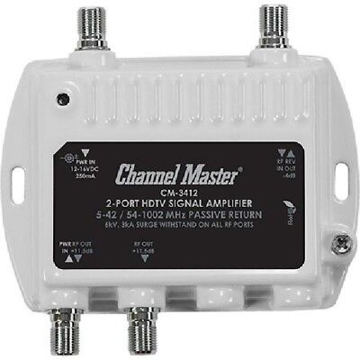 ! A ! Channel Master Ultra Mini 2 Way 11.5dB Distribution Amplifier (50-1000MHz)