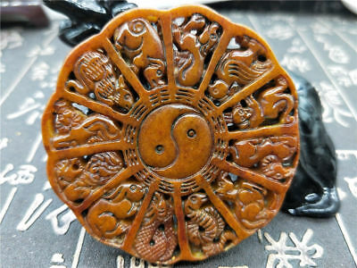 Old China Hand-carved jade pendants worn aristocratic art collection Q57