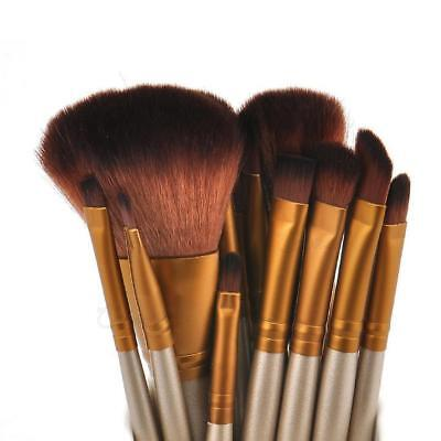 Makeup Foundation Blusher Kabuki Professional Make up Brush Brushes 12 Pcs Set