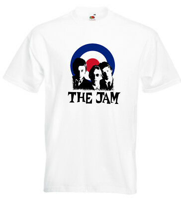 The Jam T Shirt Mod Target Paul Weller Bruce Foxton Rick Buckler Tube Station