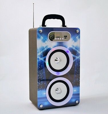 Sound Box Light Up Portable FM  Bluetooth Speaker System Radio AUX USB  #16192_2