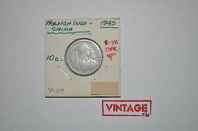 1945 French Indo-China 10 Cent Aluminum Coin