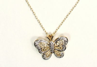 Beautiful 10K Y/G over Bronze Necklace & Hook Earring Set, with Sparkling Cubic