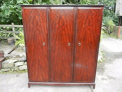 Vintage Stag Minstrel Mahogany Large Fitted Wardrobe - Good Condition