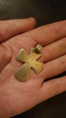 byzantine large solid silver cross 2nd century 16.29 grams
