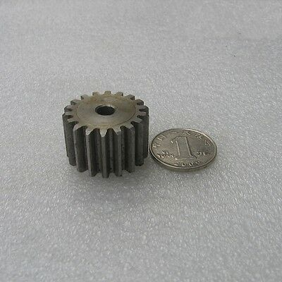 45# Steel Motor Gear Spur Pinion Gear 3.0Mod 17Tooth Thickness 30mm x 1Pcs