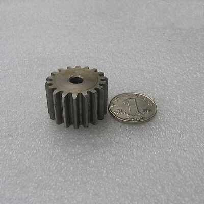 45# Steel Motor Gear Spur Pinion Gear 3.0Mod 15Tooth Thickness 30mm x 1Pcs