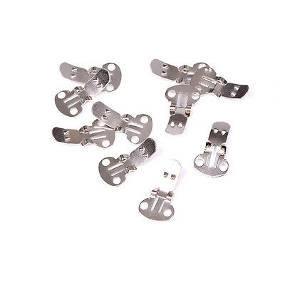 10-20Pieces Blank Stainless Steel Shoe Clips Clip on Findings Wedding Craft AB