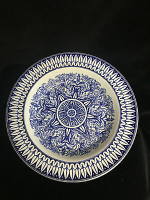 Antique Ironstone Bowl Indian Star J.m. & S -1858 -10 1/2""