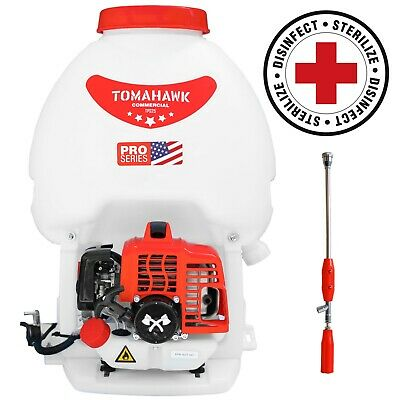 6.6 Gallon Gas Power Backpack Sprayer Mister Pest Control Fogger Nozzle