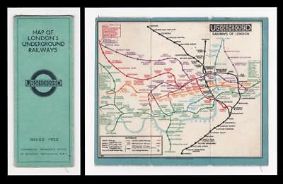 c.1929 - LONDON UNDERGROUND/ TUBE MAP - by F H Stingemore - Waterlow (Pre Beck)