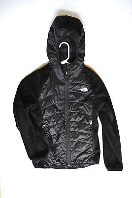 The North Face Girls Fleece Polyfill Jacket Black Size Large 14/16 Hooded