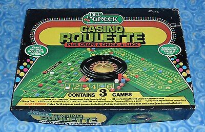 Nick the Greek Casino Roulette 3 Game Gambling Center Complete Minus 2 Chips