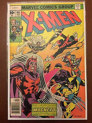Uncanny X-Men #104 (1977 Marvel Comics) Magneto appearance NO RESERVE