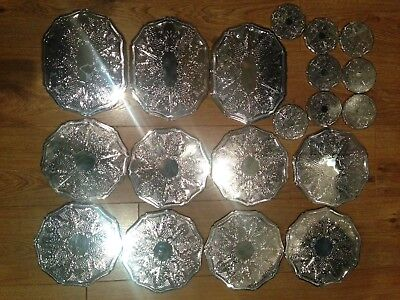 Silver Plate Vintage Table Coasters