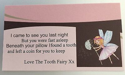 Tooth Fairy Calling card