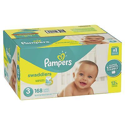 ***NEW*** Pampers Swaddlers Diapers Size 3, 180 count ***FREE SHIPPING***