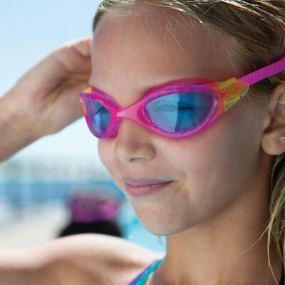 Zoggs Swimming Goggles - Panorama Junior Boys /Girls Childrens - UV Pink/Blue