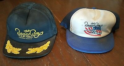 The Beach Boys Lot of two 80's hats/caps 1983 Brother and ? date for one bid