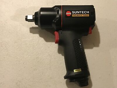 "Suntech 1/2"" Pneumatic Mini Air Impact Wrench Composite Housing 460 ft-lbs torq"