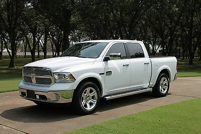 2015 Ram 1500 Laramie Longhorn Crew Cab 4WD ECODIESEL One Owner Perfect Carfax Navigation Heated and Cooled Seats MSRP New $59335