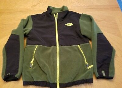 The North Face Boy's Jacket Denali Scallion Green Youth Size M 10/12