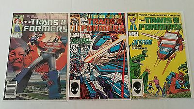 The Transformers #1 (1984), 4, 11, first prints, first Jetfire, Shockwave, Prime