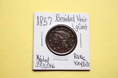 1857 Braided Hair Large Cent (Penny)