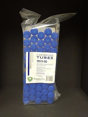 50 x 15ml NEW Conical Centrifuge Tubes, Sterile, autoclavable including rack