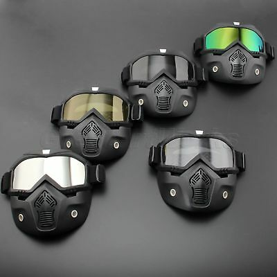 Motorcycle ATV Racing Off-Road Anti-UV Helmet Goggles Eyewear Scooter Face Mask